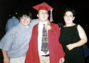 Matt, myself, and Sara at my high school graduation in May of 1999