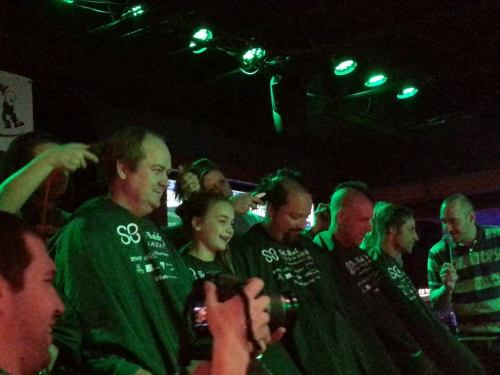 More shavees. 2nd from left was a young girl that raised more than any other female participant.